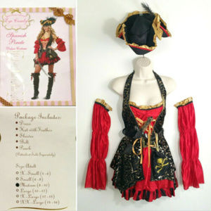 Spanish Pirate Deluxe Costume Halloween 2874E1M